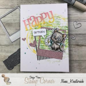 CraftEmotions Textschablone 115633//0423 Gratuliere zum Geburtstag